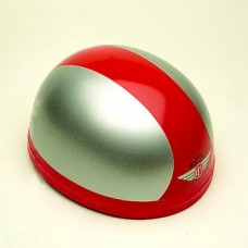 Gloss Silver/Red 60204 - Davida Classic Helmet