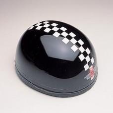 Gloss Black w/White Check 60270 - Davida Classic Helmet