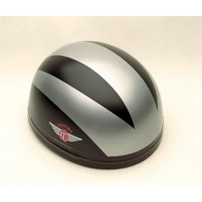 Gloss Black/3 Silver Lines 60320 - Davida Classic Helmet