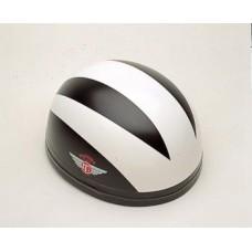 Gloss Black/3 White Lines 60321 - Davida Classic Helmet